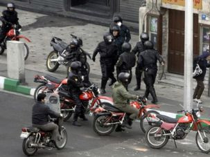 Crackdown: Protests in the streets of Iran in the last days of December were violently suppressed.