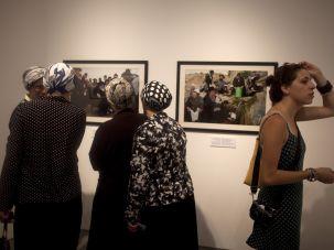 Women visiting the Israel Museum, Jerusalem.