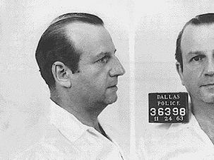 Arrested: Jack Ruby, born Jacob Rubenstein, murdered Lee Harvey Oswald and was believed to have ties to various underground and Communist groups.