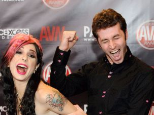 Joanna Angel and James Deen.