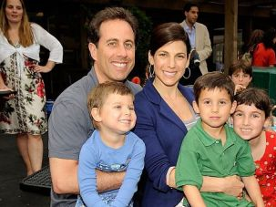 Seinfeld?s Day: Jerry Seinfeld and Jessica Seinfeld with sons Shepherd and Julian and daughter Sascha.