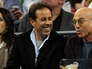Jerry Seinfeld and Larry David