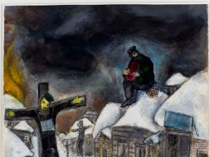 Marc Chagall, the Russian-French artist, created several works depicting Jews on the crucifix, like the 1944 painting, as a comment on violence against Jews in Europe.