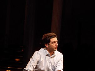 "John Magaro as Joe Papp in ""Illyria."""