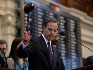 Joe Straus, the moderate Republican speaker of the Texas House.