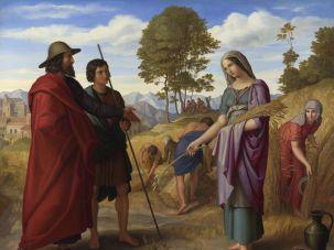 """Julius Schnorr von Carolsfeld: """"Ruth in Boaz's Field"""", 1828"""