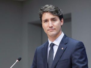 Canadian prime minister Justin Trudeau speaks at the United Nations.  Le Premier ministre canadien Justin Trudeau parle aux Nations Unies.