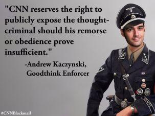 Kaczynski's head was photoshopped onto the body of an SS officer.