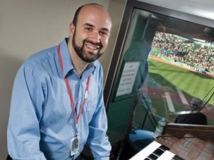 Josh Kantor, organist for the Boston Red Sox
