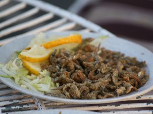 Kariba dam kapenta, a popular dish in Zimbabwe