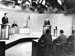 John F. Kennedy and Richard Nixon participated in the first televised debate.
