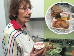 Unpalatable: Edith Speizer complained about the kosher meals. She said the vegetables were mushy, the fish portions were small and she had to cut away mold on the bread.