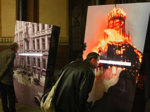 Remembering Kristallnacht, Berlin, 2008.