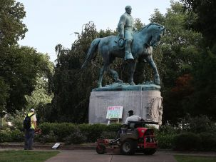 Lee monument in Charlottesville.