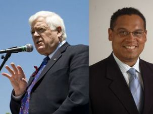 Lift Restrictions: Reps. Jim McDermott (left) and Keith Ellison sponsored effort to ease blockade on movement of civilian goods.