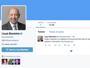 Lloyd Blankfein's follow-to-followers ratio is seriously impressive.