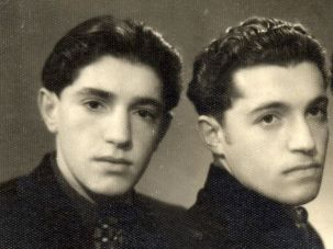 Yankel, Simon and Mende Dudakas, in Kaunas, Lithuania, in 1953.