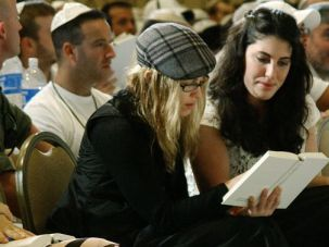 Looking for a Lucky Star: Madonna in Israel at a Kabbalah convention: in vogue in 2004.