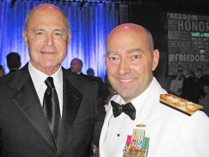 Commander: (Right) Admiral James G. Stavridis and (Left) Mel Immergut.