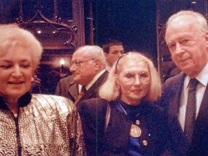 Masha Leon with Yitzhak Rabin in 1993.