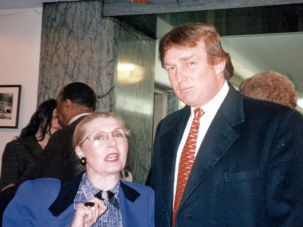 Masha Leon and Donald Trump, 1990.