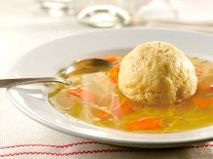 2nd Ave Deli matzo balls featured in the book 'Eating Delancy.'