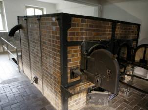 Crematorium oven in Mauthausen museum.