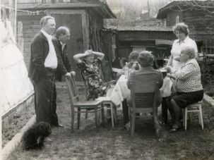 May holidays celebrated with friends in the back yard of the family house, early 1980's.