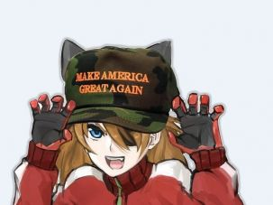 Asuka: Originally from a Japanese anime, she's now an online anti-Semitic meme.