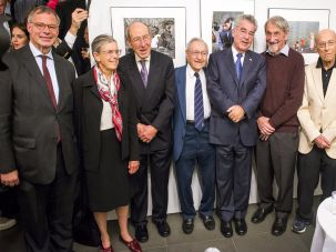Morton and Friends: From left, Austrian Consul General in New York Georg Heindl, Hope Leichter, former New York State Senator Franz Leichter, Kurt Sonnenfeld, Austrian President Heinz Fischer, Nobel Prize winner Martin Karplus, Frederic Morton, and Austrian Cultural Forum sirector Christine Moser, in New York.