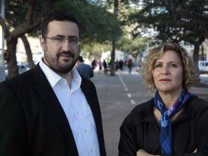 Moshe Friedman and Zika Abzuk, two Israeli businesspeople connecting ultra-Orthodox Israelis with tech start-ups.