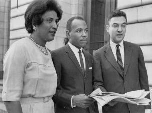 Legal Justice: Constance Baker Motley and James Meredith with Jack Greenberg.