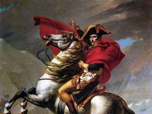 """Napoleon Crosses The St. Bernard,"" by Jacques-Louis David (1800)"