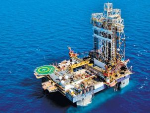 Drilling at the Leviathan offshore natural gas field.