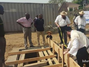 Chabad emissaries building a mikvah in Nigeria.