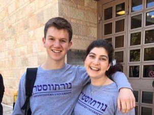Jewish students from Northwestern University.