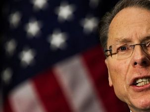 More Guns: National Rifle Association Executive Vice President Wayne LaPierre speaks on the one-week anniversary of the Sandy Hook Elementary School shootings.