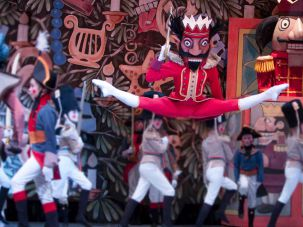 "Former Pacific Northwest Ballet dancer Andrew Bartee performs as ""The Nutcracker"" in the Maurice Sendak-designed production of the ballet."