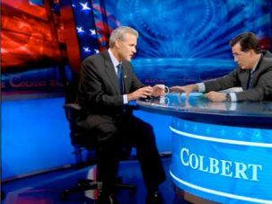 No Laughing Matter: Oren appeared on the Colbert Report in the wake of the flotilla incident, defending Israel?s actions in the deadly raid.