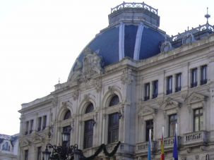 Municipal building in Oviedo, Spain.