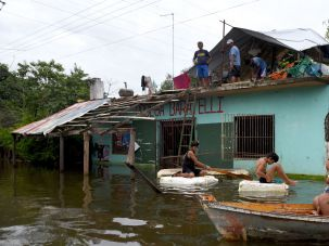 Floods in Paraguay.