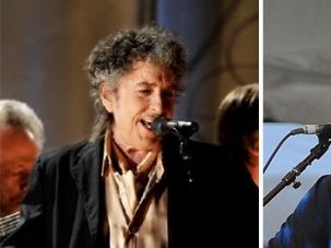 I Am Just a Poor Boy, Though My Story?s Seldom Told: Paul Simon (right), playing New Orleans in 2010, and Bob Dylan(left) performing at the 2011 Grammy awards, are iconic American singer/songwriters who have defined the musical landscape of our time.