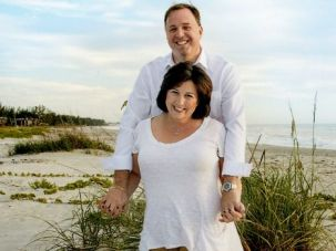 Months To Diagnose: Rebecca Oling enjoys symptom-free weeks with husband Scott Oling.