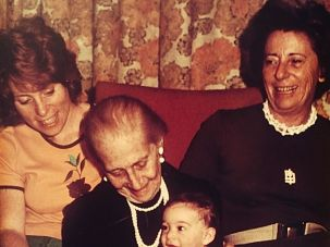 Generations of Unknown Risk: Dorothy Brown, the author (far left), her mother and her grandmother, holding Brown's newborn daughter.
