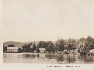 Gazebos: A vintage postcard image of the Beekman brother's Lake Amenia resort, likely taken around 1927.