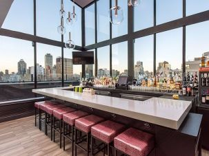 The bar at the Prime at the Bentley.