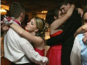 Slow Dance: Teenagers dance at a prom in New Orleans in 2006