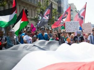 A pro-Palestinian demonstration in Marseilles in August.
