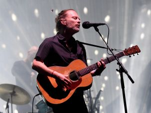 Radiohead performing at the Coachella music festival in April.