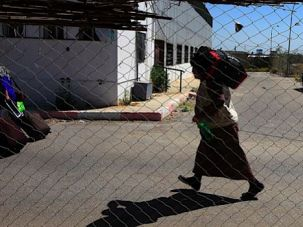 On Foot: A Gazan crosses from Egypt into Southern Gaza at the Rafah border crossing.